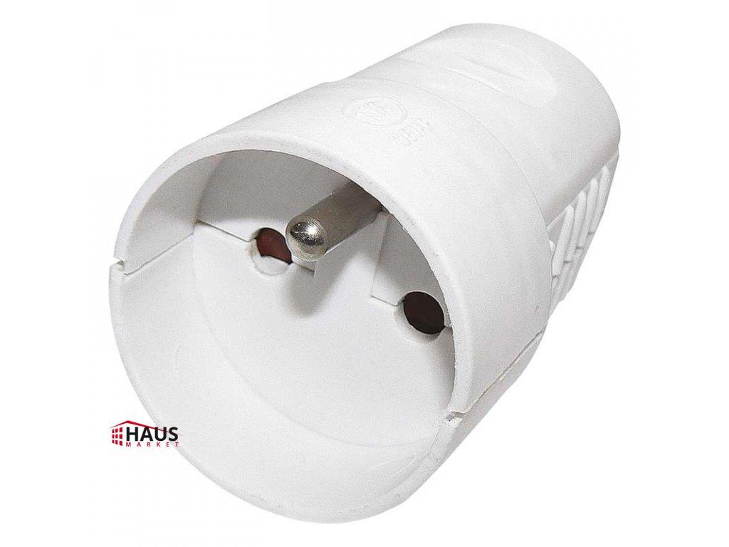 Zásuvka pre predlžovací kábel, biela P0042