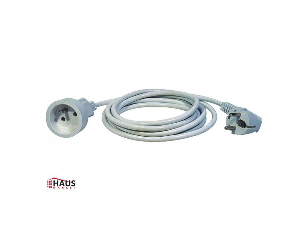 Predlžovací kábel – spojka, 1,5m, biely P0111