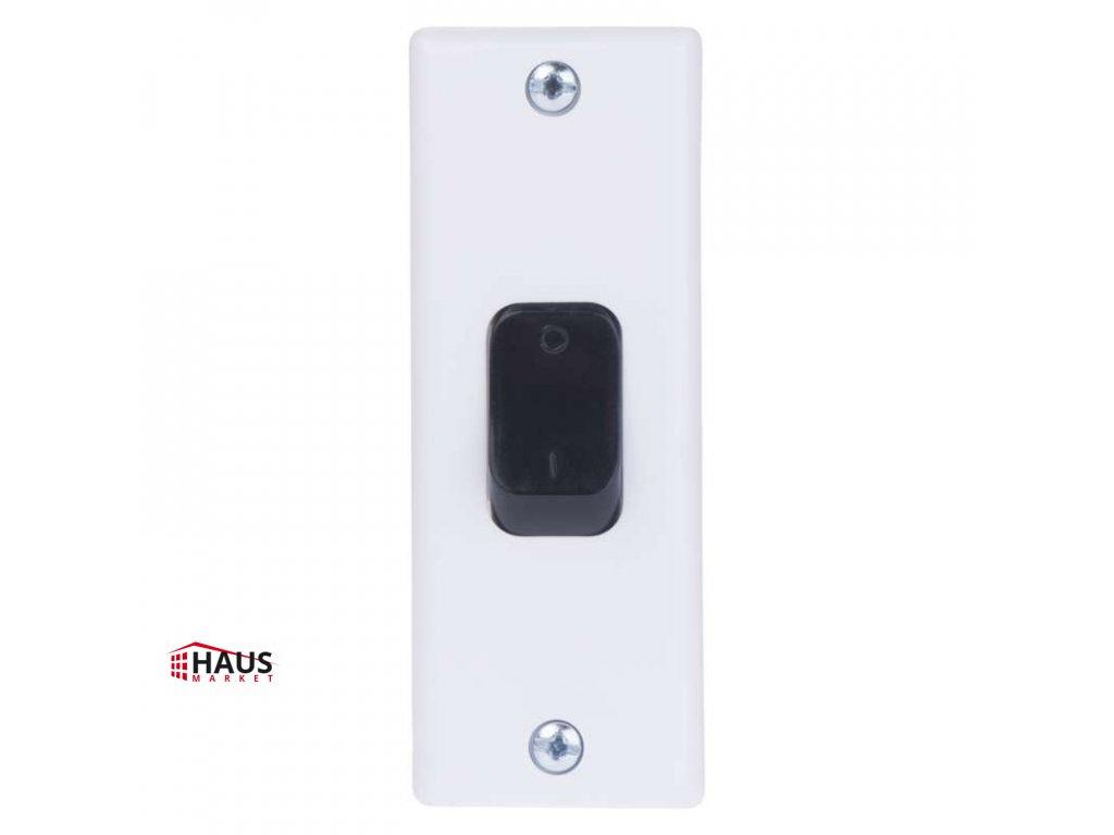Vypínač zárubňový TESLA 4FN57612, biela A0294