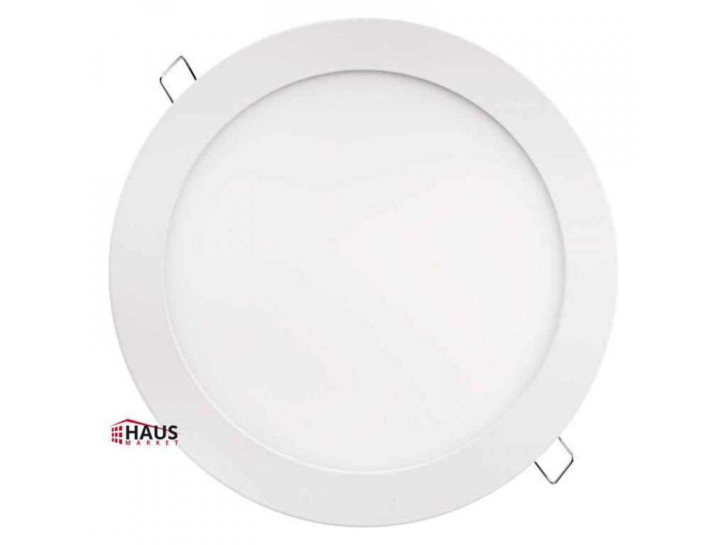 LED panel 220mm, kruhový vstavaný biely, 18W teplá biela ZD1141