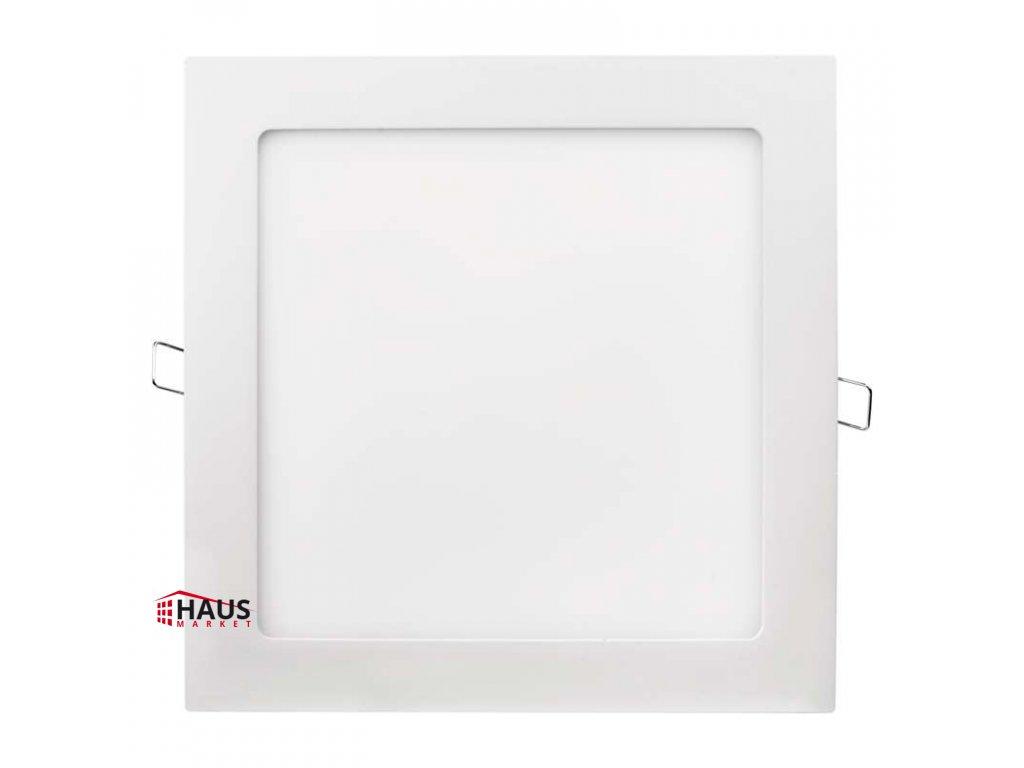 LED panel 220×220, štvorcový vstavaný biely, 18W teplá biela ZD2141