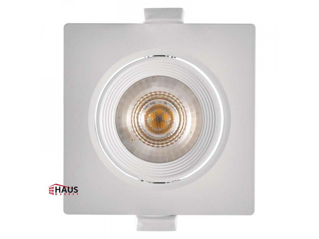 LED bodové svietidlo biele, štvorec 5W neutrálna biela ZD3561