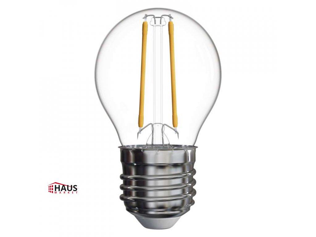 LED žiarovka Filament Mini Globe 2W E27 teplá biela Z74245