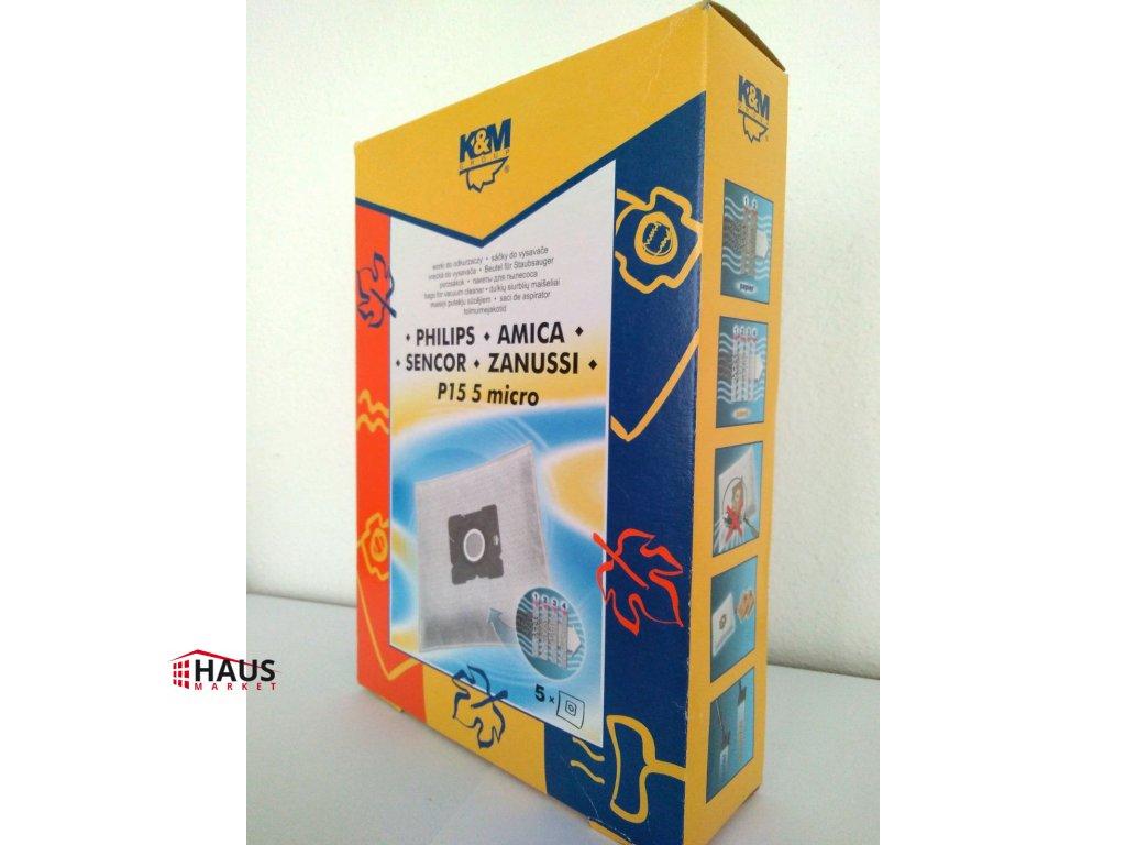 Vrecká do vysávača K&M P15 micro - PHILIPS