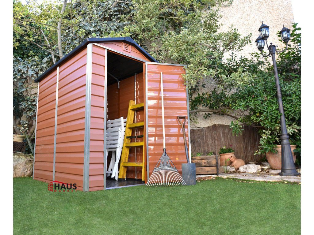 SKYLIGHT 4x6 hnedý - záhradný domček