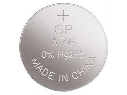Alkalická gombíková batéria GP LR44 (A76F) B13762