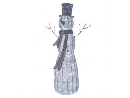 LED vianočný snehuliak ratanový, 124cm, vnút., studená b.,č. ZY2124T