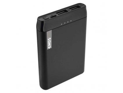 Power bank EMOS Alpha 5, 5000 mAh, čierny + kabel USB-C B0521B