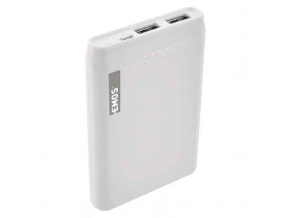 Power bank EMOS Alpha 5, 5000 mAh, biely + kabel USB-C B0521W