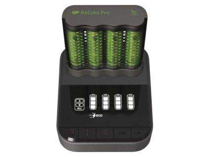 GP nabíjačka batérií Pro P461 + 4AA ReCyko 2700 + DOCK B54467D