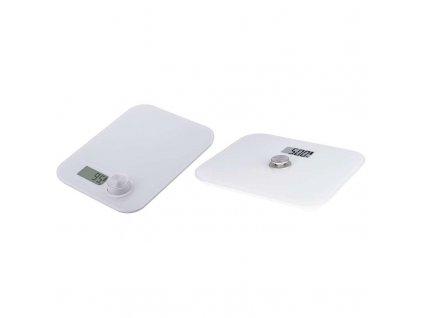 Set digitálnej bezbatériovej osobnej a kuchynskej váhy EV108A