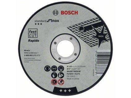 90712 rezaci kotuc bosch na nehrdzavejucu ocel standard for inox rovny hr 1 mm pr 115 mm 2608603169