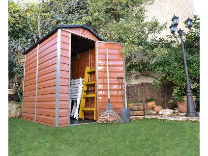 SKYLIGHT 4x6 hnedý záhradný domček