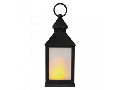 LED dekorácia - 6x lampáš mliečny, 3x AAA, čierna, vintage ZY2345