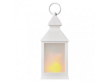 LED dekorácia - 6x lampáš mliečny, 3x AAA, biela, vintage ZY2346