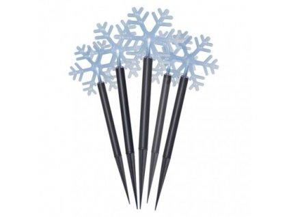 LED vianočné vločky, 30cm, vonkajšie, studená biela, časovač ZY2350