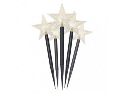 LED vianočné hviezdy, 30cm, vonkajšie, teplá biela, časovač ZY2351
