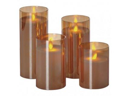 LED sviečky, 5×10/12,5/15/17,5cm, biele, 2× AA, 4 ks ZY2368