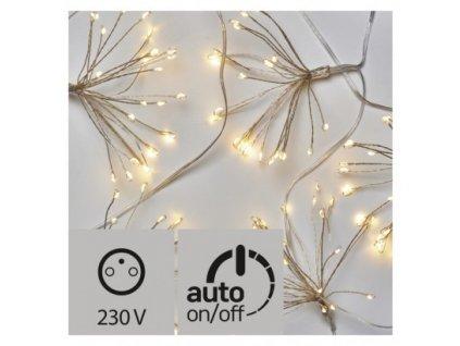 LED vianočná girlanda - nano svietiace trsy, teplá biela ZY2353T