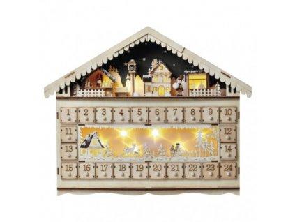 LED adventný kalendár, 19x40cm, 2x AA, vnútorný, teplá biela ZY2315