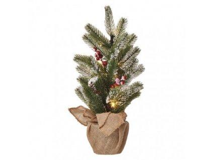 LED vianočný stromček, 52cm, 3×AA, vnútorné, teplá b., čas. ZY2355