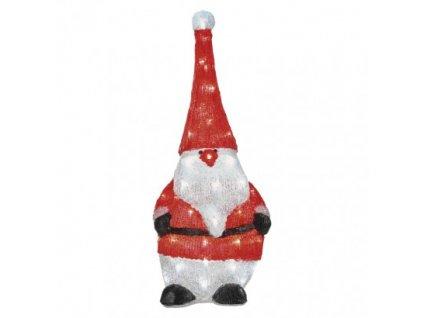 LED vianočný škriatok, 61cm, vonkajšia, studená biela, čas. ZY2228T