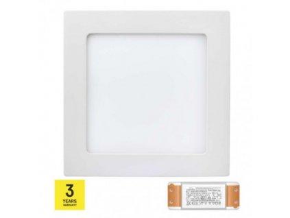 LED panel TRIAK 170×170, štvorcový prisadený bie, 12W n. b. ZM6132T