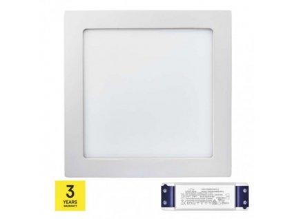 LED panel TRIAK 224×224, štvorcový prisadený bie, 18W n. b. ZM6142T