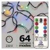 LED vianočná cherry reťaz s ovládačom – guľôčky,č./z./m.,pr. ZY2163