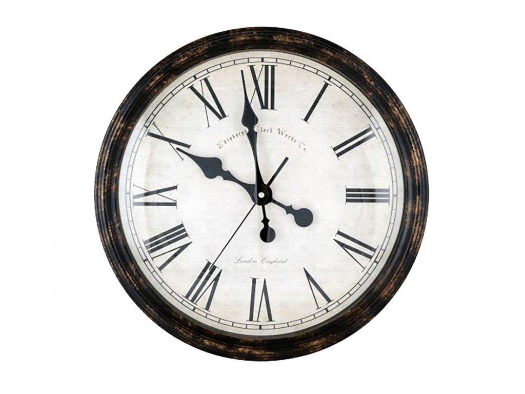 Rustikální nástěnné hodiny