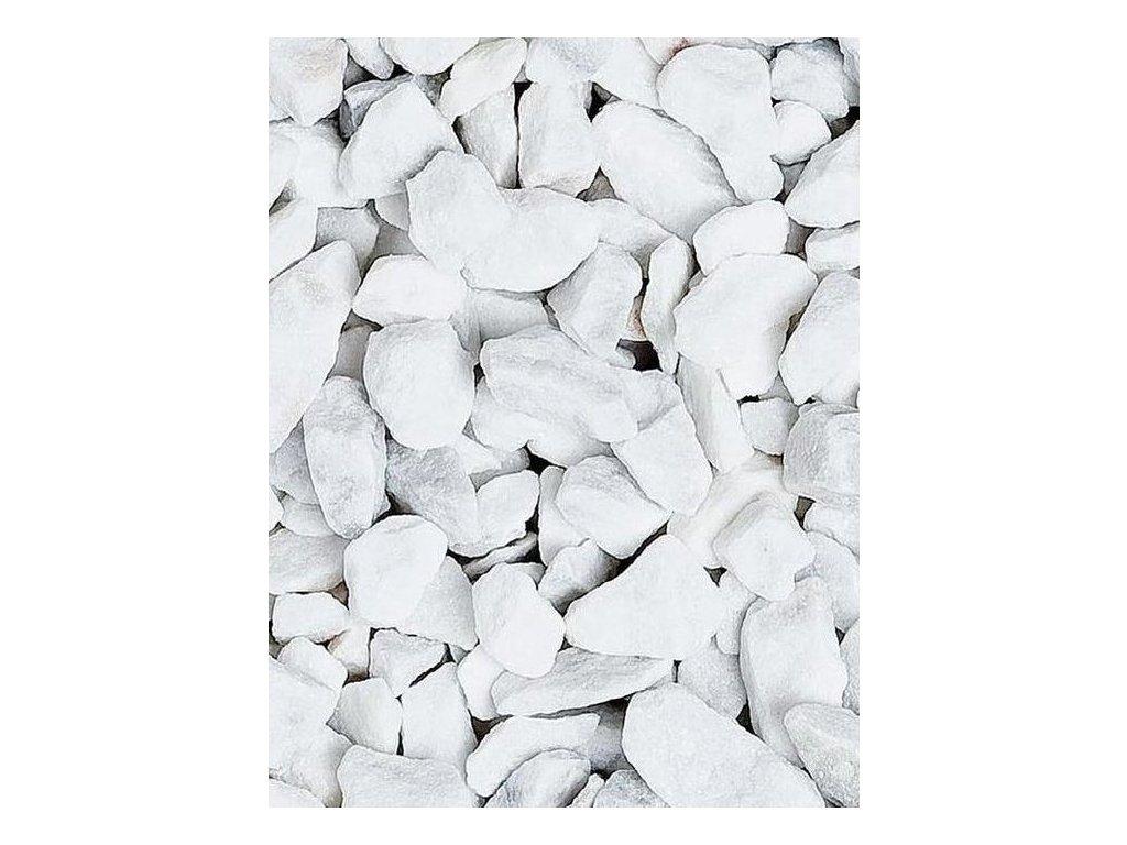 Mramor drcený Carrara 8 - 12 mm 20 kg / pytel