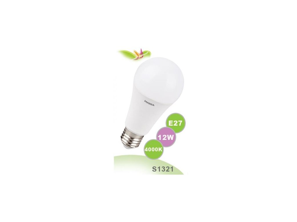 LED žárovka Sandy LED S1321 E27 12 W - 1055 lm