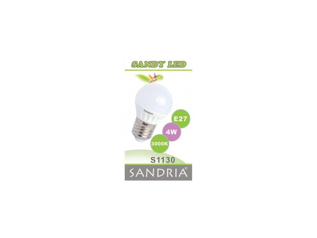 LED žárovka Sandy LED S1130 E27 4 W 3000 K