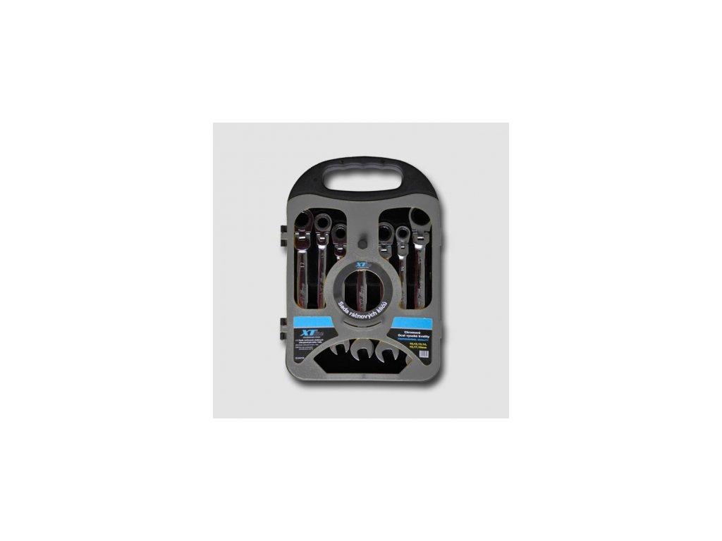 XTline Sada ráčnových klíčů kloubových 10-19mm, 72 zubů