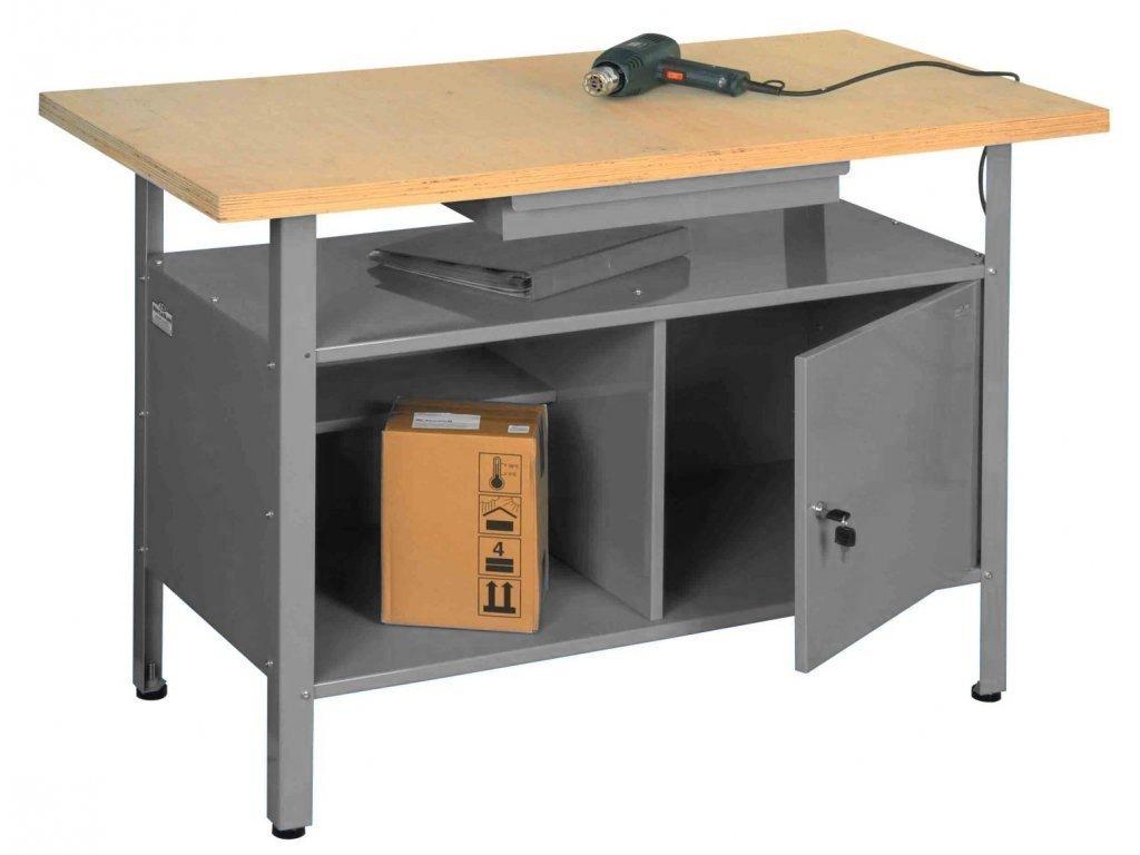 Ponk - dílenský stůl TG-SW2 - ŠEDÝ