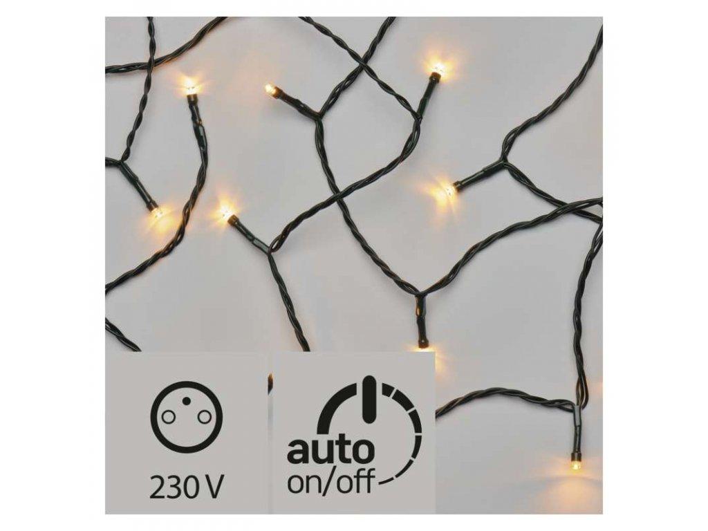 LED vánoční řetěz, 18m, jantarová, časovač