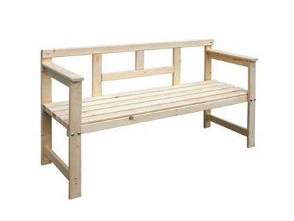 Dřevěná lavice 120x45x80 cm