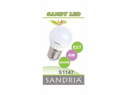 LED žárovka Sandy LED S1147 E27 4 W 4000 K
