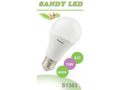 LED žárovka Sandy LED S1383 E27 A60 15W 4000K