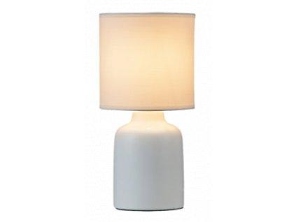 Stolní keramická lampa IDA -  4365 bílá - 1x E14