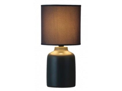 Stolní keramická lampa IDA -  4366 černá - 1x E14