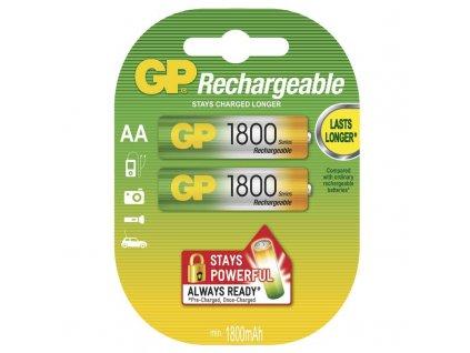 Nabíjecí baterie GP NiMH 1800 HR6 (AA), blistr