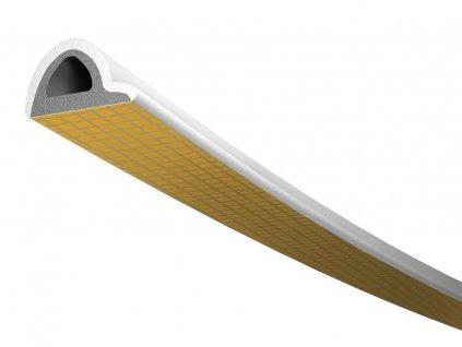 Samolepící TLT těsnění - P Profil - 6m - bílé