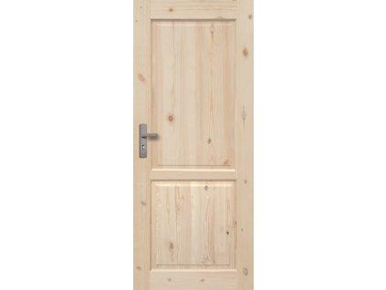 Interiérové dveře LUGANO Masiv - plné - 60 cm (orientace Levá)