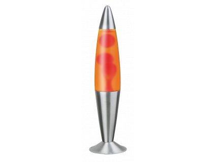 Stolní lávová lampa LOLLIPOP 2 - červená/žlutá/stříbrná
