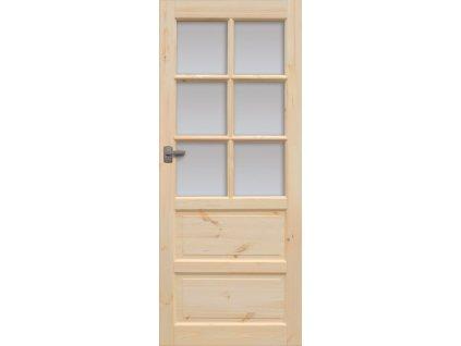 Interiérové dveře ILAWA Masiv - sklo 6S - 60 cm / bez skla