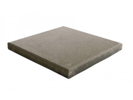 Dlažba plošná hladká Praktik 40 x 40 x 4 cm - šedá