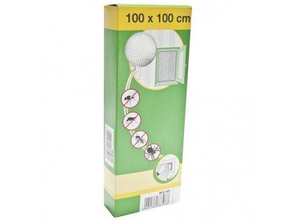 Síť okenní proti hmyzu 100x100 cm - bílá