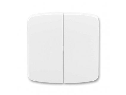 Kryt na vypínač TANGO dvojitý, bílý 3558A-A652B