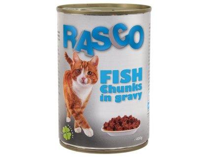 konzerva rasco rybi kousky ve stave 415g original